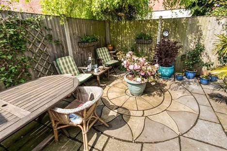 rear patio garden