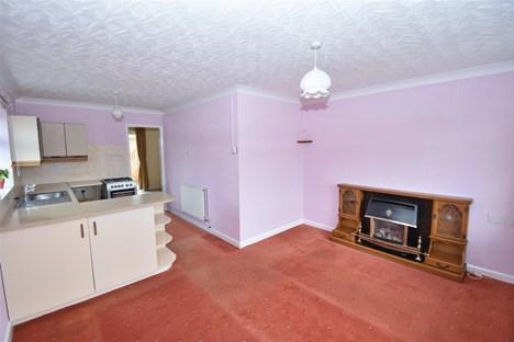 view of lounge through to kitchen