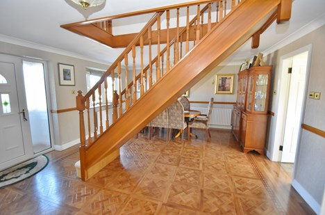Hallway/Stairs off