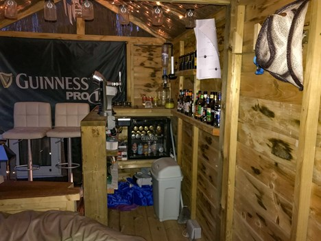 bar entertaining area