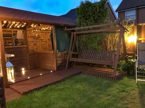 rear garden night