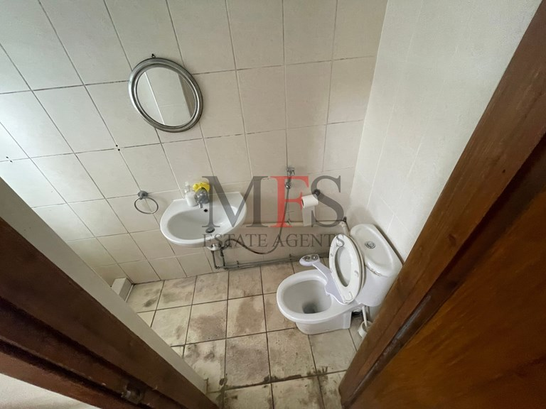 Shower, basin and WC